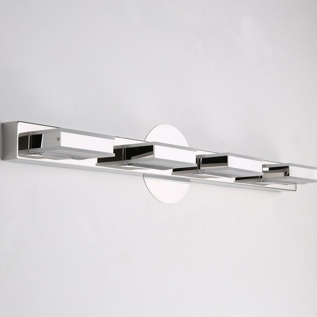 mirrea 16W Modern LED Vanity Light in 4 Lights, Cold White by mirrea (Image #7)