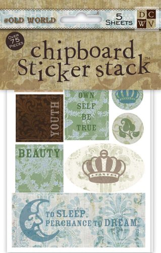 DCWV Chipboard Saying Stack, Old World (Old World Stack)