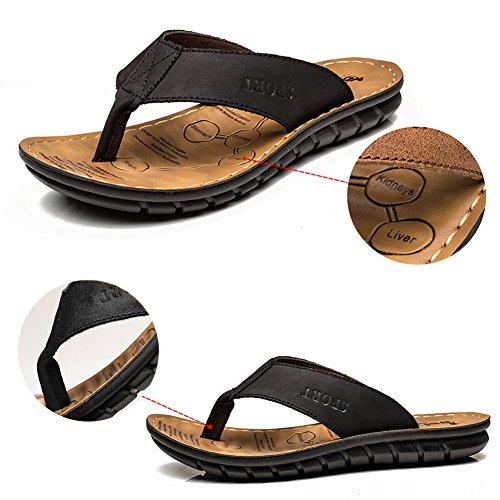 Soft Men Bathroom Non Indoor Slippers Beach Black Flip Flops Sandals Summer Bottom Slip INFLATION xnRwUdXPR