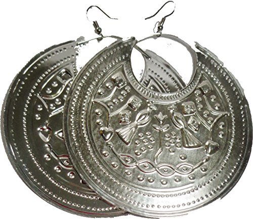 BELLY DANCE EGYPTIAN METAL COIN EARRING JEWELRY GYPSY (SILVER) 110