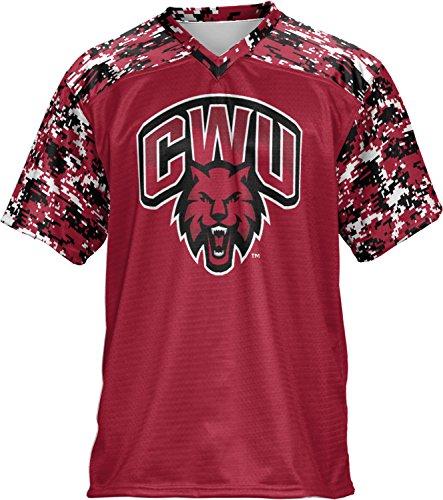 Men's Central Washington University Digital Football Fan Jersey (Apparel)
