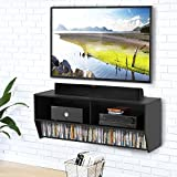 #2: Fitueyes Wall Mounted Audio/Video Console wood grain for xbox one/PS4/vizio/Sumsung/sony TV.DS210302WB