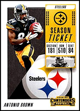 229c40cb5a3 2018 Panini Contenders Season Tickets Football  17 Antonio Brown Pittsburgh  Steelers Official NFL Trading Card
