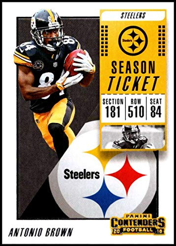 29051fa43 2018 Contenders NFL Season Ticket (Base)  17 Antonio Brown Pittsburgh  Steelers Official Football Trading Card made by Panini