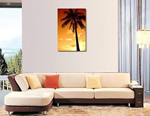 Tropical Palm Tree And Warn Sunset Wall Decor Ation