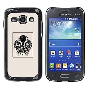 GOODTHINGS Funda Imagen Diseño Carcasa Tapa Trasera Negro Cover Skin Case para Samsung Galaxy Ace 3 GT-S7270 GT-S7275 GT-S7272 - lindo gato de la casa del cartel gatito negro