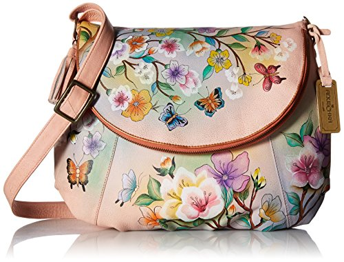 Convertible Flap Garden Japanese Over LL Large Anuschka xFvawpF