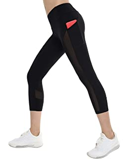 f1da6cc19d THE GYM PEOPLE Thick High Waist Yoga Pants with Pockets, Tummy Control Workout  Running Yoga