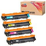 JIMIGO Compatible Toner Cartridge Replacement for Brother TN221 TN225 TN-221 TN-225 for HL-3170CDW HL-3140CW HL-3180CDW MFC-9130CW MFC-9330CDW MFC-9340CDW (High Yield, 4-Pack)