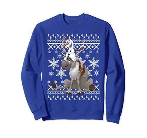 Disney Frozen Olaf Sven Antler Ride Ugly Sweater