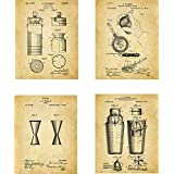Alcohol Patent Wall Art Prints - set of Four (8x10) Unframed - wall art decor for spirit lovers