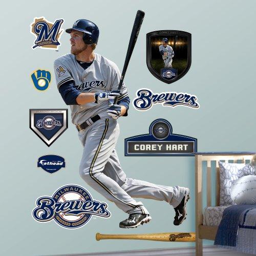 (Fathead MLB Milwaukee Brewers Corey Hart)