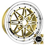 Drag Wheels DR-20 15x7/ 4x100 et40 Gold Machined Face rims