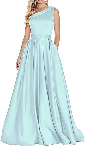 Amazon.com: Lady Dress Women's One Shoulder A Line Prom