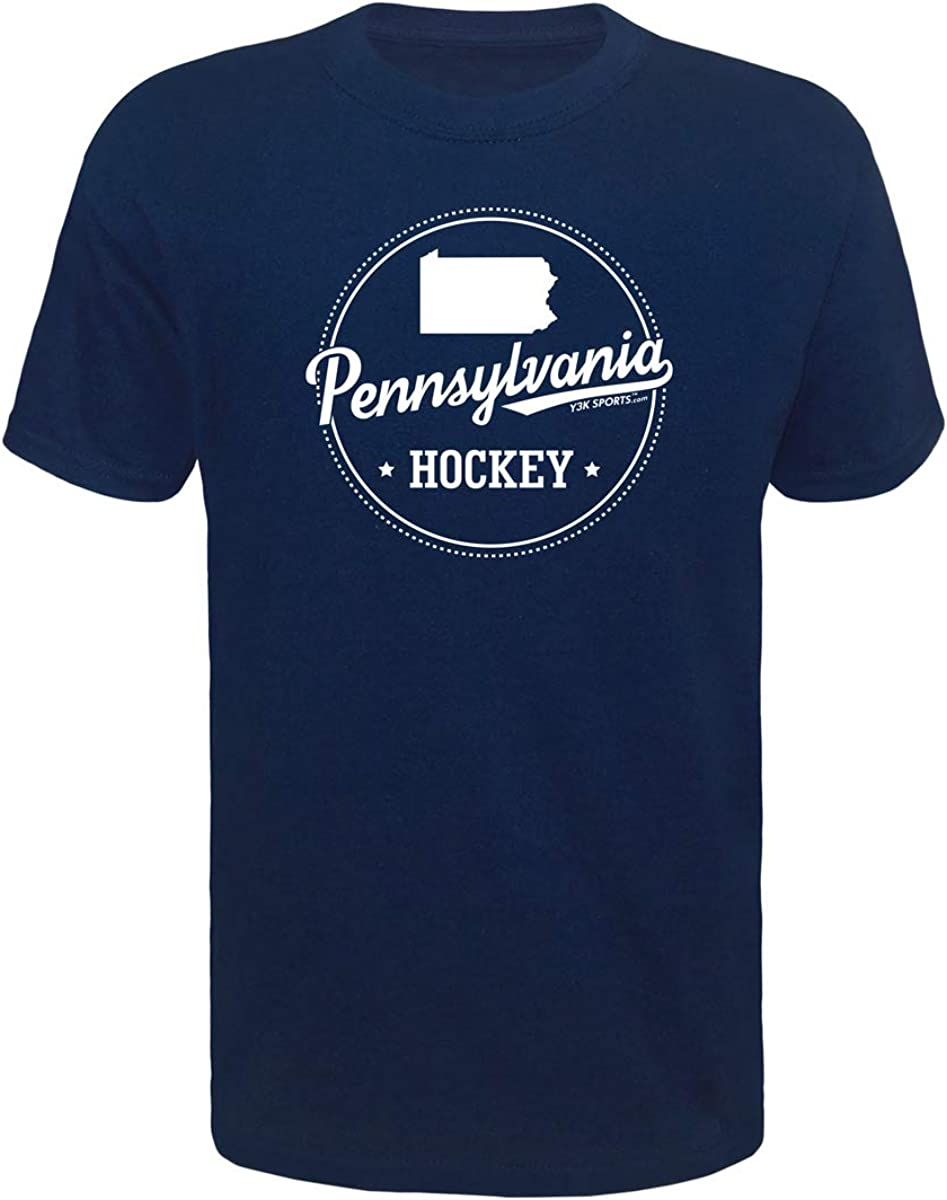 Y3K Sports Boys Youth Ice Hockey Pennsylvania State T-Shirt