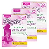 Playtex Gentle Glide Tampons, Fresh Scent Regular Absorbency, 20 Count (Pack of 3)