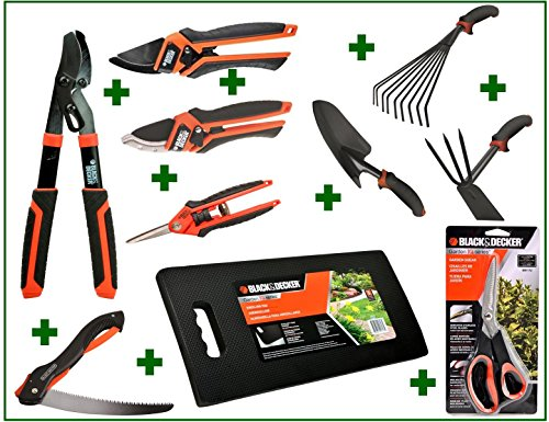 Deluxe gardening gift set 10 pc black and decker iq for Gardening tools gift set