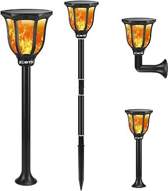 Zubita Llama Solar Luces para Exteriores, Luz Solar Exterior Jardin Efecto de Llama Realista Impermeable Solares Luz de Llama 96 LED Para Patio, Césped, Pasillo: Amazon.es: Iluminación