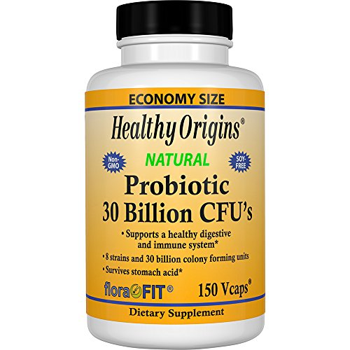 30 Healthy (Healthy Origins Probiotic 30 Billion CFU's Shelf Stable, 150 Veggie Caps)