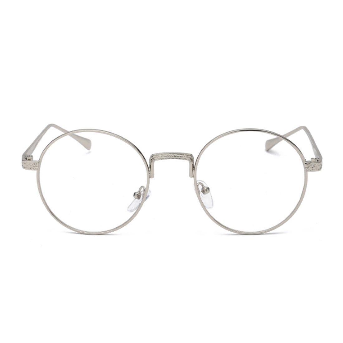 Yefree Männer Frauen Myopie Gläser Runde Rahmen Retro Plain Brille ...