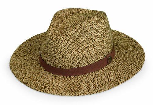 Wallaroo Hat Company Men's Outback Fedora - UPF 50+, Adjustable, Designed in Australia, Medium, Brown