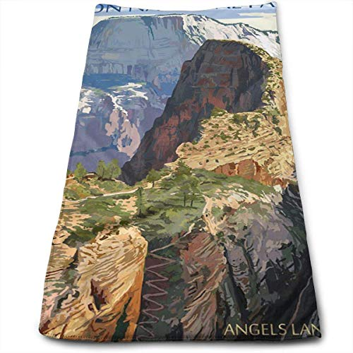 Zion National Park - Angels Landing Multi-Purpose Microfiber Towel Ultra Compact Super Absorbent and Fast Drying Sports Towel Travel Towel Beach Towel Perfect for Camping, Gym, Swimming.