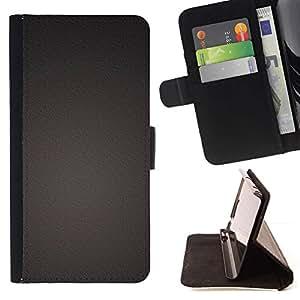 For HTC One M8 Case , Uniforme color Una textura del metal- la tarjeta de Crédito Slots PU Funda de cuero Monedero caso cubierta de piel