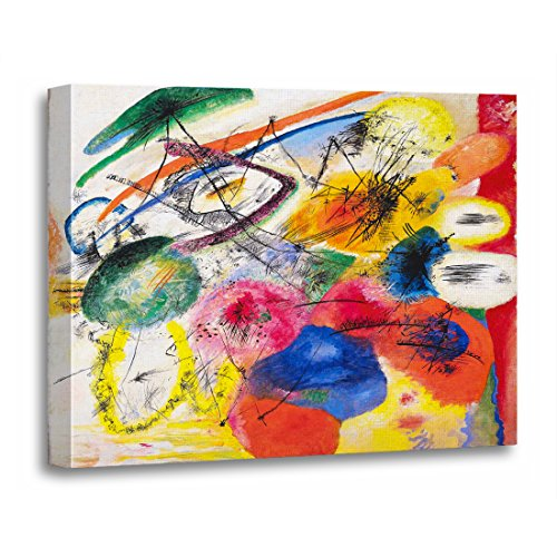 Wassily Kandinsky Artwork - TORASS Canvas Wall Art Print Strokes Kandinsky Black Lines Paintings Abstract Wassily Best Artwork for Home Decor 16