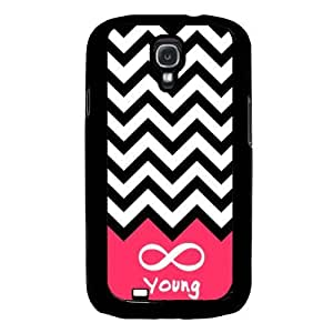 Cool Painting Forever Young Chevron Samsung Galaxy S4 I9500 Case Fits Samsung Galaxy S4 I9500