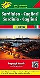 Cerdeña-Cagliari, mapa de carreteras. Escala 1:150.000. Freytag & Berndt. (Auto karte)