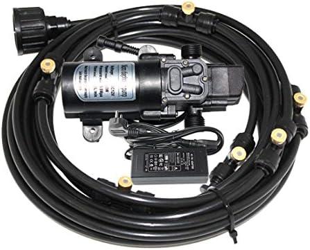 EONBON 12V 60W 5L min Fresh Water Pressure Self Priming Sprayer Pump with 60 Feet 18m Misting Cooling System for RV Caravan Camper Marine Boat Lawn