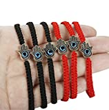LOYALLOOK 6pcs Braided String Kabbalah Bracelets