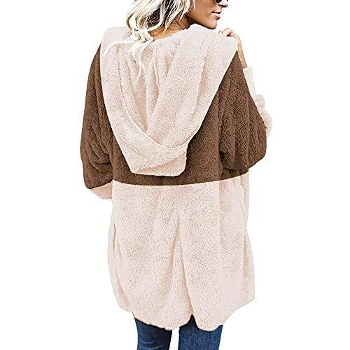 Sweatshirt Cardigan Veste Chaud Manteau Blouson Tops Mode Poches Énorme Femme Shobdw Longues Hoodie Hiver Capuche Kaki Pullover Blouse À Manches wBxp46Aq6