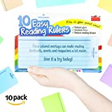 10 x Dyslexia Reading Rulers with Colour Overlay. Recommended for Irlens, Dyslexic, ADHD and Visual Stress