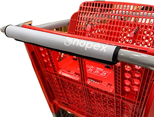 Shopping Cart Handle Cover by Shopex, Cover for Grocery Cart, Buggy and Trolley Handles | Safe for Adults, Babies and…