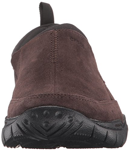 Crocs Men's Swiftwater Leather Moc Flat Espresso/Black very cheap for sale from china footlocker pictures for sale NhLdSL