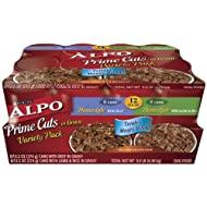 ALPO Prime Cuts Dog Food Variety Pack, 9.90-Pound, Pack of 12