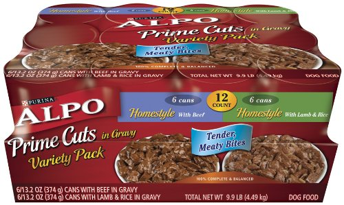 Alpo Pet Foods (ALPO Prime Cuts Dog Food Variety Pack, 9.90-Pound, Pack of 12)