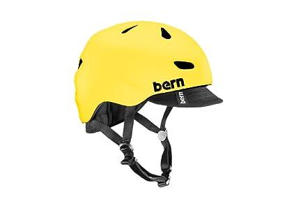 94f93ea65886 Amazon.com   Bern Brentwood Gloss Yellow All Season Helmet