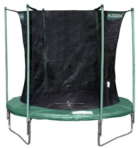 HUDORA Trampolin mit Sicherheitsnetz 250 cm Ø, schwarz/grün (Art. 65500)