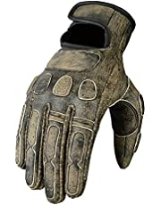 Leather Roadster Classic Motorcycle Gloves Distressed Brown