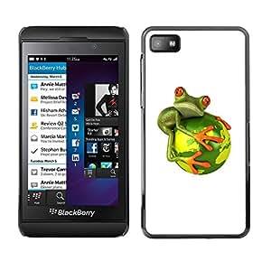 TopCaseStore / la caja del caucho duro de la cubierta de protección de la piel - Global Warming Extinction - Blackberry Z10