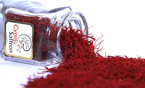 Spanish Saffron (2 Gram) Crystal Jar [SUPER NEGIN] NON-GMO, organically grown
