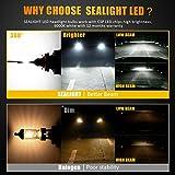 H11/H8/H9 LED Headlight Bulbs Conversion Kit, DOT Approved, SEALIGHT S1 Series 12x CSP Chips Low Beam/Fog Light Bulb- 6000LM 6000K Xenon White