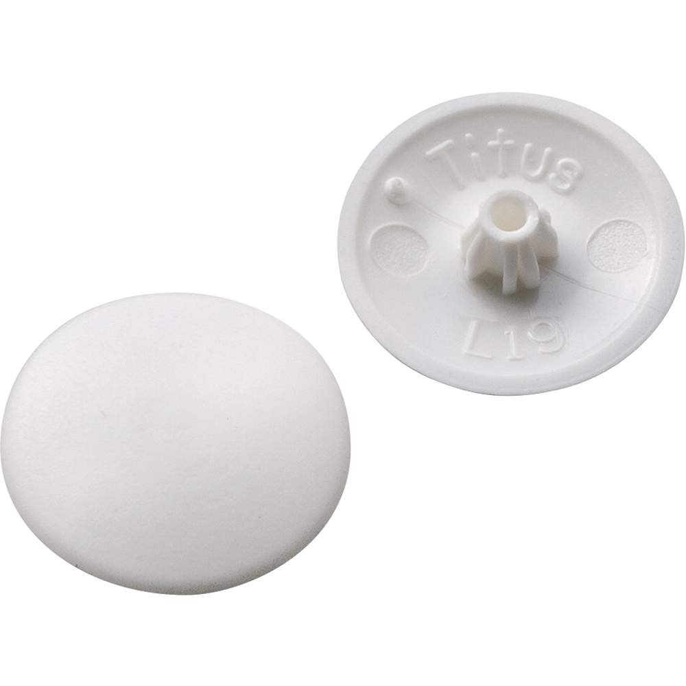 Screw Cap Covers - for Phillips and Square-X - White (100 per Pack)