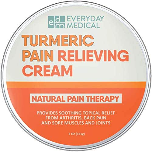 Everyday Medical Turmeric Pain Relief Cream I Advanced Curcumin Pain Relief and Joint Support I Analgesic Pain Relieving Salve for Arthritis, Back Pain, Muscle Ache and Sore Joints - 5oz (148g)
