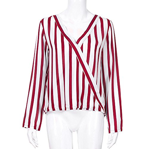 Abrigo Larga BBestseller Tops de Holgada Mujer Camisetas Chaqueta Blusa Ropa Talla Manga de Pullover Rojo Grande Ixwqt6f