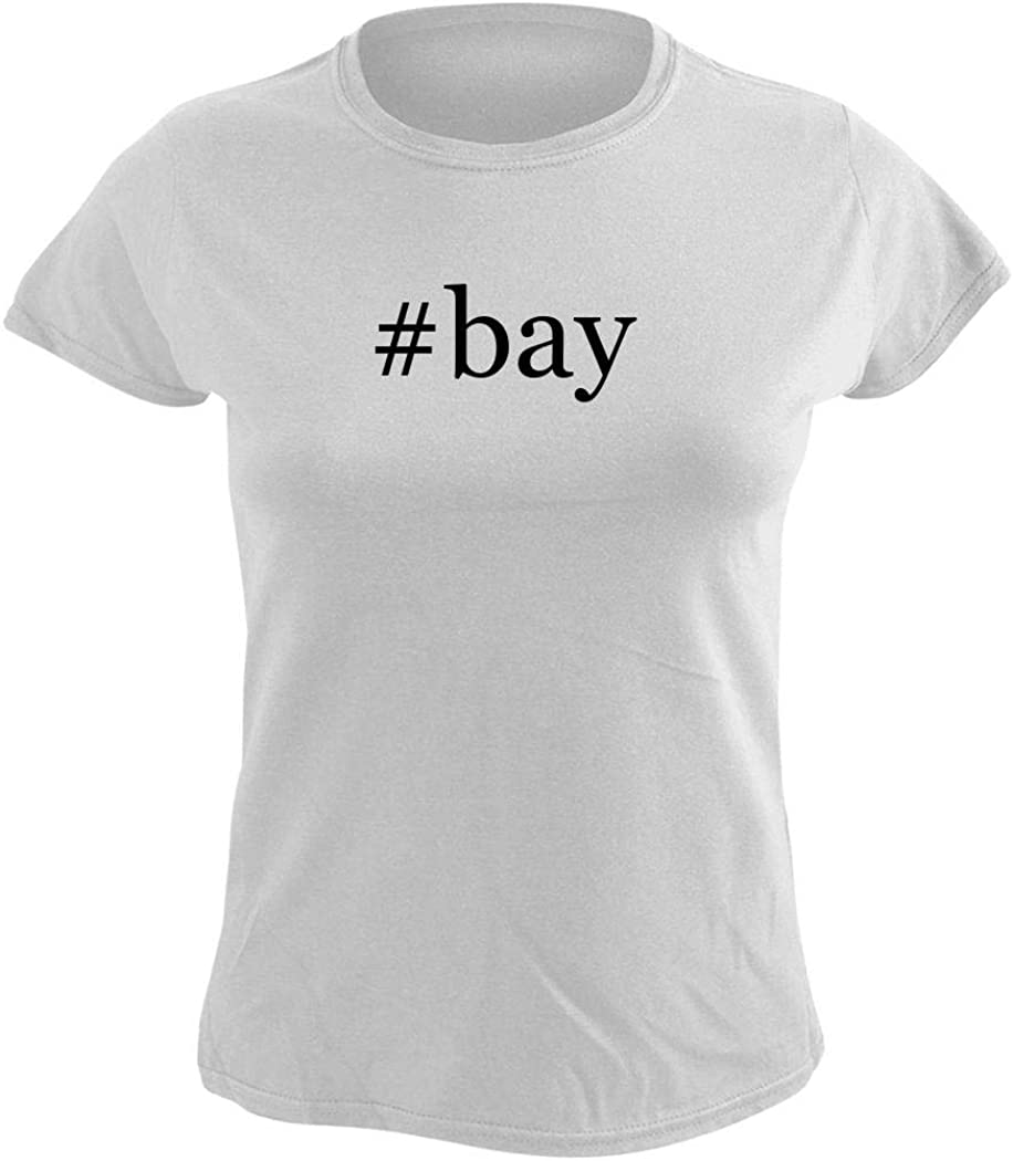 #bay - Women's Hashtag Graphic T-Shirt, White, Large
