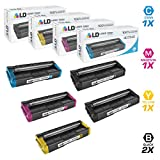 LD Compatible Ricoh SP C250 5PK Cartridges: 2 407539 Black, 1 407540 Cyan, 1 407541 Magenta, and 1 407542 Yellow for SP Printers: C250DN, C250SF