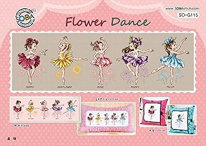 Amazon Com So G115 Flower Dance Soda Cross Stitch Pattern Leaflet